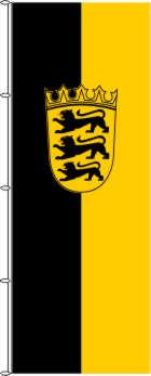 Flagge Baden Wurttemberg Mit Wappen 100 X 400 Cm Marinflag Maris Flaggen Gmbh