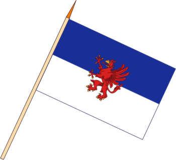 Flaggenfritze/® Stockflagge Pommern 30 x 45 cm