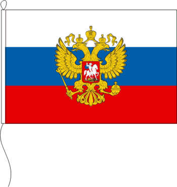 Flagge Russland mit Wappen 100 x 150 cm Marinflag
